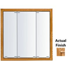 Kraftmaid Classic 23-In X 28-In Square Surface/Recessed Mirrored Wood