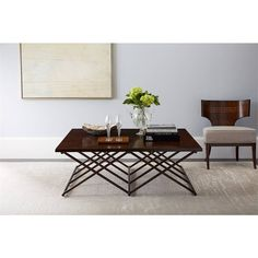 Villa Couture Rocco Cocktail Table in Mottled Walnut - 510-15-01 - coffee table  - Living Room - Stanley Furniture