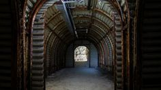 Fan Bay Deep Shelter. Forgotten and abandoned, the tunnels unchanged since the Second World War