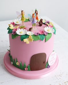 44 ideas for garden fairy birthday party cake Tinkerbell Birthday Cakes, Garden Birthday Cake, 8th Birthday Cake, Birthday Cake With Flowers, Themed Birthday Cakes, Themed Cakes, Birthday Ideas, Fairy House Cake, Fairy Garden Cake