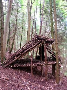 This Outdoor Enthusiast Constructs And Sleeps In 100 DIY Survival Shelters - Kevin Langan started a project on his blog entitled 100 Wild Huts, where he is attempting to build 100 small survival shelters, spending the night inside of each. For the construction of his shelters, Kevin is determined to only use natural resources and a small hatchet.