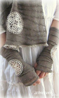 Gloves and scarf.