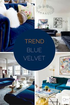 Our new obsession BLUE VELVET..see more on ohwhatsthis.com #velvet #furniture