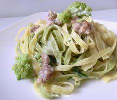 Paglia e fieno con broccolo romano e salsiccia | Ricetta