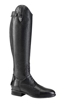 Made of high quality, natural calf leather, featuring a leather inner sole for added comfort and an efficient shock absorbing system in the heel, reducing impact on the heel and over exertion of the foot #boots #equestrian #fashion #style #horse #riding #showjumping #gaiters #chaps #socks #breeches