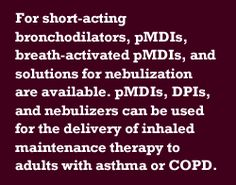 Article on Asthma and COPD tx