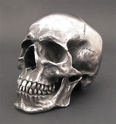 Human Stainless Steel Skull from Skelemental.co.uk