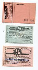 Nazi Germany 1936 Olympic Games Donation Receipts (Chits) and Entrance Ticket