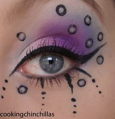 CookingChinchillas: Futuristic electro cyber goth eye make up