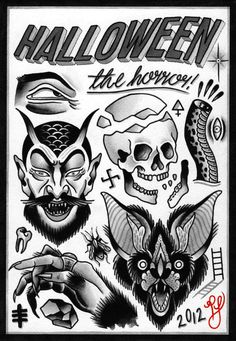 Halloween tats. By Philip Yarnell