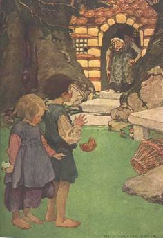 Hansel and Gretel - by Jessie Willcox Smith ~ Coussens, Penrhyn W. A Child's Book of Stories. New York: Duffield and Company, 1911.