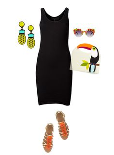 Great black dress for summer-Tropical Accessories | Kelly Christine Studio