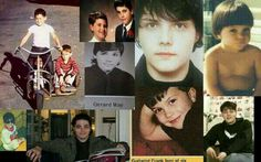 Gerard Way<<<< there is just a random picture of Frankie in there<<<3 random pictures of Frankie...this collage upsets me.