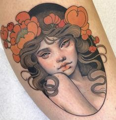 Portrait Drawings That Will Make You Want To Start Drawing – Bein Kemen Traditional Tattoo Black And Grey, Neo Traditional Art, Black And Grey Tattoos, American Traditional, Traditional Tattoo Portrait, Traditional Tattoo Woman Face, Traditional Tattoo Drawings, Traditional Tattoos, Body Art Tattoos