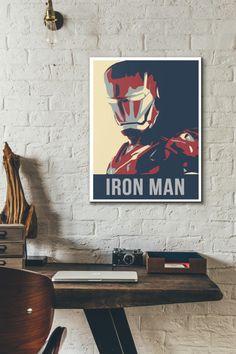 Ironman poster Marvel Comics Avengers Wall Art by Tesellate