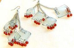Recycled Plastic Earrings.