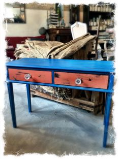 Bord malet med Chalk Paint. #ChalkPaint