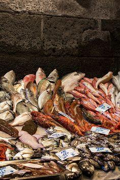 Fish market, Catania. Sicily, Italy. Art, food, traditions and history by Luca Serradura. www.lucaserradura.com