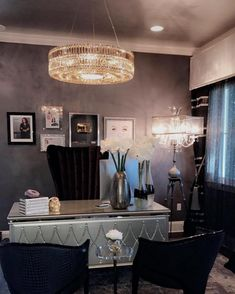 Chic Home Decor Ideas Decorating Your Home, Interior Decorating, Interior Design, Decorating Ideas, Decor Ideas, Home Office, Chic Office Decor, Glamour Decor, Spa Rooms