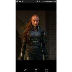 Sophie Turner as Jean Grey in X-Men ❤ liked on Polyvore featuring men's fashion, men's clothing, men's jeans, mens grey jeans, mens jeans and gray mens jeans