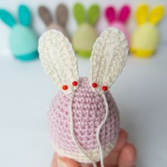  Have you tried my FREE EASTER Egg pattern, yet? Animal Knitting Patterns, Amigurumi Patterns, Triple Crochet Stitch, C2c Crochet, Easy Crochet, Crochet Stitches, Easter Bunny Crochet Pattern, Funny Eggs, Easter Funny