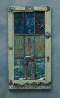 Mystic Window of Sea and Sky, 2013, by Betye Saar.  Just pinning for the general idea...