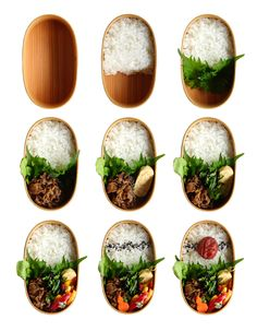 REBLOGGED - R journal: How to pack the food into the bento box.