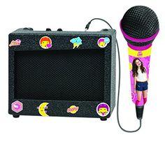 LEXIBOOK- K900SL – Micro-amplificateur Soy Luna: Un ampli portable et un micro pour chanter où tu veux, quand tu veux ! 1 microphone 1…