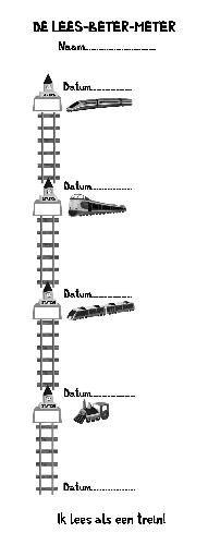 Dyadon - dyslexie advies onderwijs - De Lees Beter Meter (25 pagina's). Voor feedback en feedforward bij het lezen. Binnenzijde. Te bestellen via info@dyadon.nl