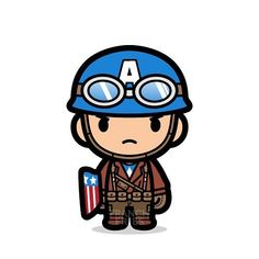 While Cap's Civil War is still kicking ass out there, let's revisit Cap waaay back in time. PS : Ch - mvnchk Chibi Marvel, Marvel Art, Marvel Avengers, Batman Comics, Marvel Cartoons, Superhero Classroom, Marvel Wallpaper, Cute Cartoon Wallpapers, Avengers Infinity War