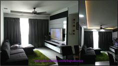 HDB TV Feature Wall and ceiling cove light Tv Feature Wall, Dining Area Design, Cove Lighting, Living Spaces, Living Room, Design Inspiration, Ceiling, Sitting Rooms, Living Rooms