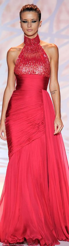 Zuhair Murad Fall Couture 2014 (=)---Love this hot pink dress Zuhair Murad, Red Fashion, Couture Fashion, High Fashion, Holiday Fashion, Beautiful Gowns, Beautiful Outfits, Amazing Outfits, Gorgeous Dress