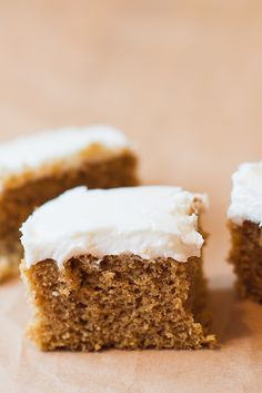 Simple Pumpkin Cake Recipe - Easy to make but oh-so-moist and delicious! Top with cream cheese frosting and this is a heavenly pumpkin dessert!