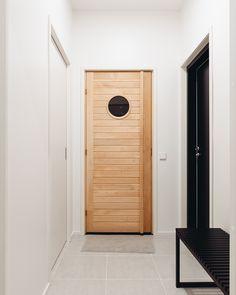 Ulko-ovi toivottaa vieraat tervetulleeksi ja viimeistelee kodin tyylin. Ulko-oven mallia, väriä ja materiaalia kannattaa harkita ajan kanssa. Varsinkin pääsisäänkäynnillä on suuri merkitys kodin tunnelmaan. #designtalo #eteinen Decor, Furniture, Home, Storage Cabinet, Tall Cabinet Storage, Storage