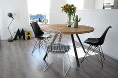 Ruw Meubelen - Eettafel Ron! Een stoere ronde tafel van RUW meubelen