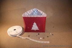 Square Pillow Box Thinlits, Blog Hop, Herbst, Pillowbox, Stampin' Up, stempeln, Tannenbaum, Teelichthalter, Weihnachten, Winter, Designerpapier im Block Fröhliche Feiertage, schiller's platzli: Blog Hop Herbst - Winterkatalog Stampin' Up!