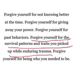 Forgiveness is tough. forgiving other people that hurt you is one thing but truly forgiving yourself for just doing your best and surviving is one of the only ways to find peace ✌🏼 Image Citation, Motivational Quotes, Inspirational Quotes, Deep, Note To Self, Quotes To Live By, Things Change Quotes, People Dont Change Quotes, Judging People Quotes