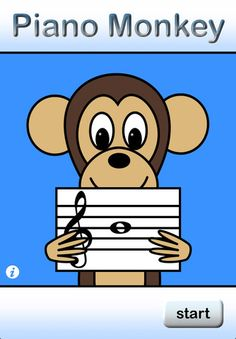 Piano Monkey is designed to help beginning music students develop quick note recognition in an approachable, game-like environment.