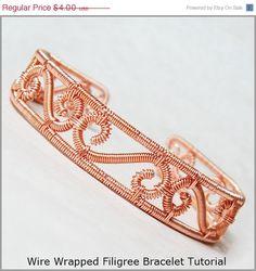 Summer Sale - 10% off - 2 in 1 Filigree Style Bracelet Wire Jewelry Tutorial