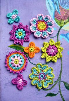 Crochet flowers, crochet flowers, crochet applications, crochised - crochet flowers and applications Crochet Brooch, Freeform Crochet, Crochet Motif, Crochet Doilies, Knit Crochet, Crochet Poppy Free Pattern, Crochet Flower Patterns, Crochet Flowers, Knitting Patterns