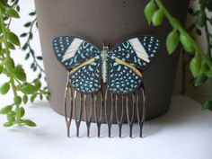 Items similar to Beautiful Butterfly Hair Comb Set Barrette Hair Clip Perfect Bridal Hair Accessory Pretty Fashion Statement Ready to Ship on Etsy Butterfly Hair, Butterfly Wings, Beautiful Butterflies, Hair Comb, Cuff Bracelets, Art Ideas, Cute Outfits, Hair Accessories, Wedding Ideas