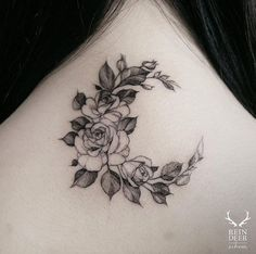 Floral crescent moon by ZIhwa