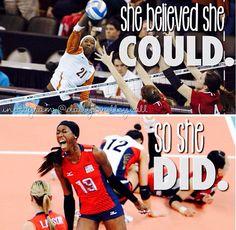 volleyball inspiration/ Destine Hooker