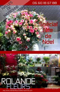 idée cadeau pour Noel et le jour de l'an, bouquet, vases, offrir des fleurs en fin d'année http://www.rolande-fleurs-halles-narbonne.com