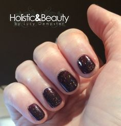CND Shellac Dark Lava layered with the gorgeous Nordic Lights. I'm in love with this combination!