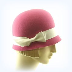 Pink Cloche Hat for Women & Girls - Easy Cloche Hat - Pink Felt Hat via Etsy