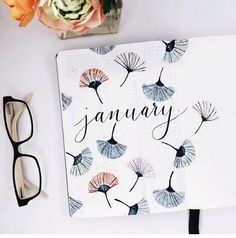 January Bullet Journal Ideas 15 January cover pages to get you i. - January Bullet Journal Ideas 15 January cover pages to get you inspired - Bullet Journal Headers, Bullet Journal Cover Page, Bullet Journal Notebook, Bullet Journal Spread, Bullet Journal Layout, Journal Covers, Bullet Journal Inspiration, Journal Ideas, Bullet Journal Birthday Page