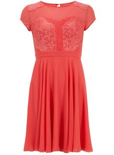 Love the Dorothy Perkins Amy Childs Emma coral skater midi dress on Wantering.