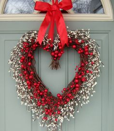 Valentine Wreath  Valentine Door Wreath  Wreath for by countryprim, $64.00
