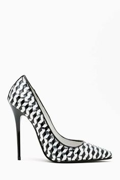 Darling Pump - Silver Woven